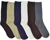 "Muk Luks Men's 9"" Rayon from Bamboo Sock Pack (6 Pair)"