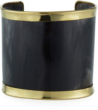 Panacea Golden-Trim Resin Cuff, Brown