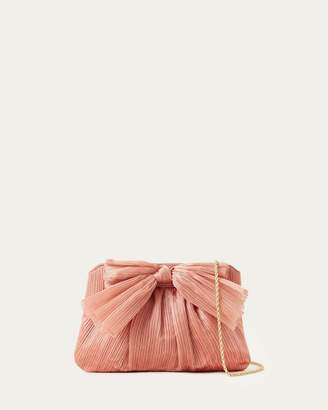 Loeffler Randall Rayne Pleated Bow Clutch Bermuda
