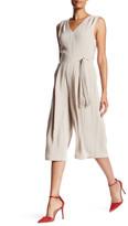 Greylin Sheer Back V-Neck Sleeveless Jumpsuit