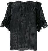 Dolce & Gabbana sheer polka dot ruffle blouse