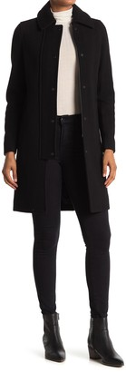 Andrew Marc Shiloh Twill Zip/Snap Front Coat