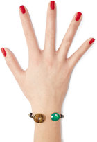 Gas Bijoux Durality Sertil Gold-Plated Bangle with Onyx & Chrysoprase