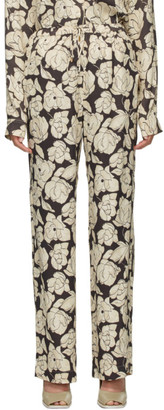Nanushka Brown and Beige Tupsa Lounge Pants