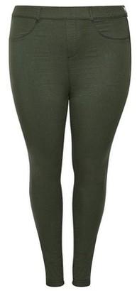Dorothy Perkins Womens Dp Curve Plus Size Khaki 'Eden' Super Soft Ankle Grazer Jeggings, Khaki