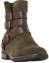 Bertie Pennyford Buckle Ankle Boots, Khaki