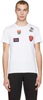 Alexander McQueen White Badges & Butterfly T-Shirt