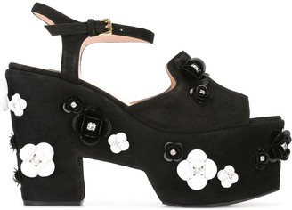 Boutique Moschino Embellished Platform Sandals