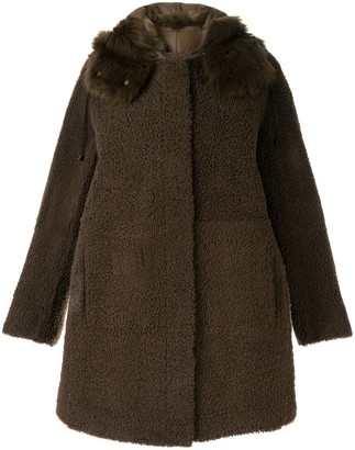 Yves Salomon Shearling Button Coat