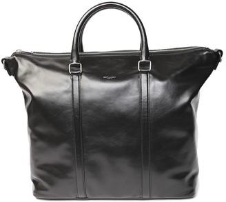 Saint Laurent Supple Sac De Jour Black Leather Duffle Bag