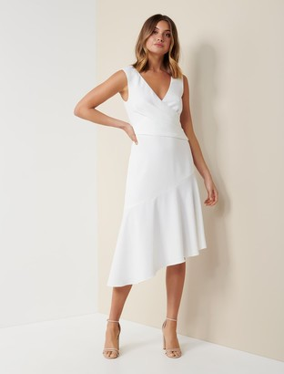 Forever New Cynthia Draped Dress - Porcelain - 4