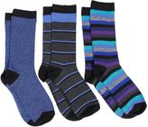 Converse 3 Pair Crew Affair Stripes Socks