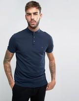 Calvin Klein Collarless Polo Shirt