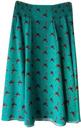 Prada Turquoise Silk Skirt for Women