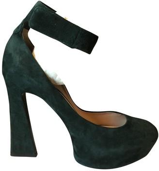Celine Green Suede Heels