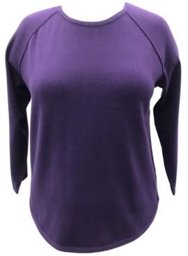 Karen Scott Plus Size Cotton Curved-Hem Top, Created for Macy's