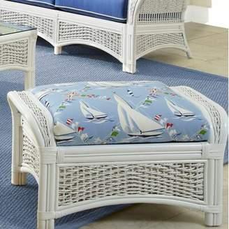 Spice Islands Wicker Regatta Ottoman Spice Islands Wicker Upholstery Color: Set Sail