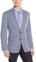 DKNY Men's Druce Modern Fit 2 Button Side Vent Notch Lapel Solid Jacket