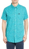 RVCA Men's Clearwater Trim Fit Woven Shirt