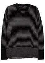 Lanvin Monochrome Striped Fine-knit Wool Jumper
