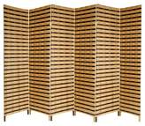 Oriental Furniture Two Tone Natural Fiber Room Divider