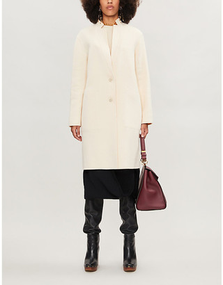 Theory Classic-fit wool-blend coat