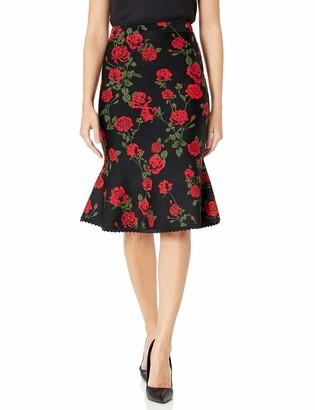 BCBGMAXAZRIA Women's La Rosa Flared Pencil Skirt