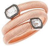 Vince Camuto Holiday Spiral Rose Goldtone Glass Crystal Coil Bracelet