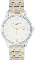 Infinite Silver And Gold Plated Bracelet Watch