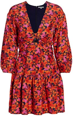 Derek Lam 10 Crosby Talia Floral Babydoll Dress