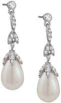 Carolee Earrings, Glass Pearl Linear Teardrop Earrings