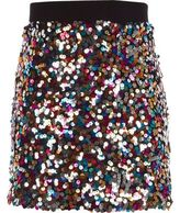 River Island Girls Pink multi-coloured sequin A line skirt