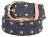 Miu Miu Embellished Denim Belt