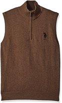 U.S. Polo Assn. Men's Solid 1/4 Zip Mock Vest