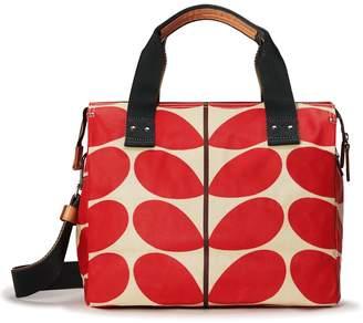Orla Kiely Watson Messenger Bag, Solid Stem Red