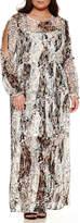 BELLE + SKY Long Sleeve Maxi Dress-Plus