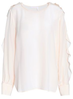 See by Chloe Ruffled Silk Crepe De Chine Blouse