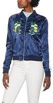 Romeo & Juliet Couture Women's Rj41138 Bomber Jacket,(Manufacturer Size: Medium)