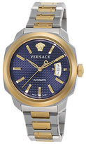 Versace VAG030016 Men's Dylos Automatic Two-Tone Stainless Steel Blue Dial
