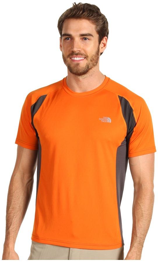 The North Face Men's GTD S/S 2012 (Oriole Orange/Graphite Grey) - Apparel