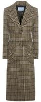 Prada Check virgin wool coat
