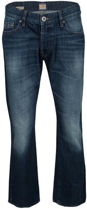 Boss By Hugo Boss Boss Orange By Hugo Boss Indigo Dark Wash Faded Effect Denim Regular Fit Fair Jeans XL