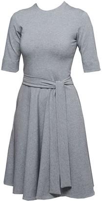 Non+ Non564 Grey Round Neck Whirl Skirt Dress