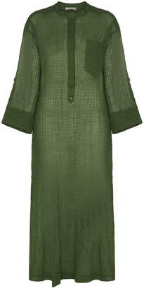 Three Graces August semi-sheer kaftan dress