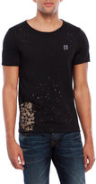 Cult of Individuality Flocked Logo Splatter Tee
