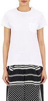 Sacai Women's Pleated-Back T-Shirt-WHITE