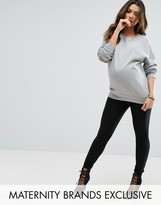 Missguided Maternity Ribbed Over The Bump Leggings