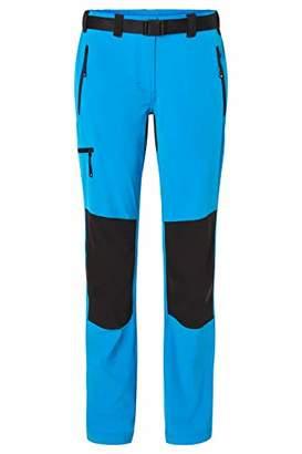 James & Nicholson Women's Ladies' Trekking Pants Trouser, Bright-Blue/Navy, (Size: Small)