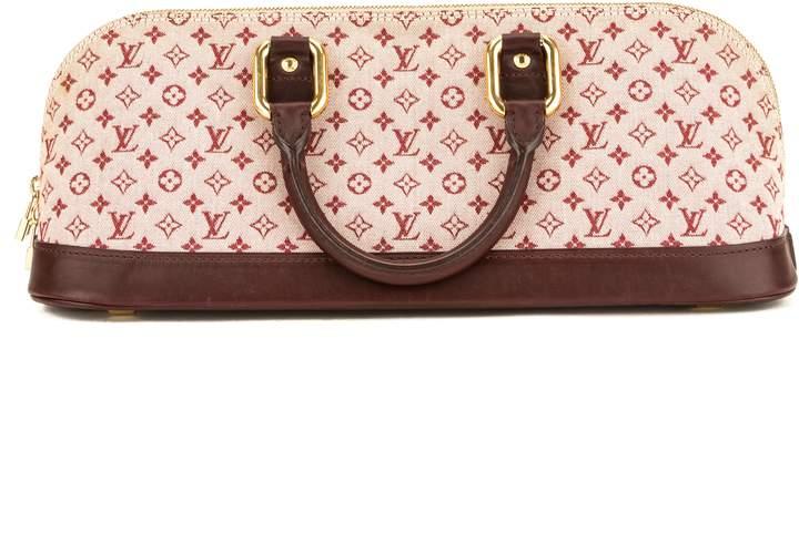Louis Vuitton Cerise Monogram Mini Lin Canvas Alma Horizontal Bag (Pre Owned)