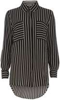 Izabel London **Izabel London Black Stripe Blouse